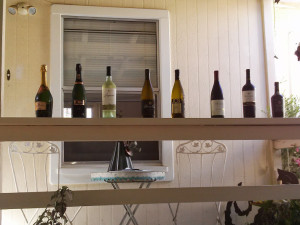 a selection of wines for patio tasting